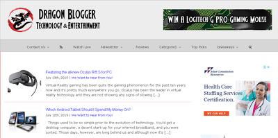 Publish entertainment & technology article on Dragonblogger.com