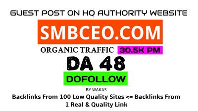 Publish Guest Post on SMBCEO.com DA 48 Dofollow Link