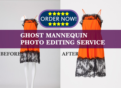 Ghost mannequin photo edit | dummy background remove of 10 cloth