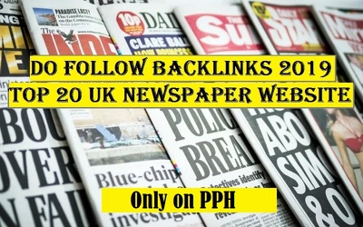 Gain 50 backlinks from UK top newspaper sites