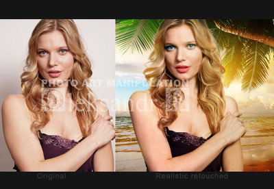 Realistic photo compilation in Tropical vacation (5 photos)