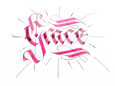 Design gothic calligraphy lettering
