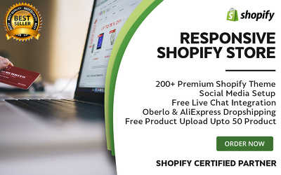 Design & develop responsive winning Shopify store