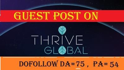 Publish Guest Post On Thrive Global Thriveglobal.Com Da78