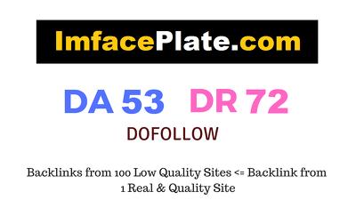 Publish Guest Post on Imfaceplate.com DA 53 DR 72