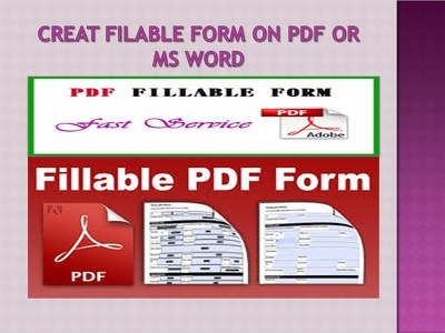 Edit PDF or ms word filable form