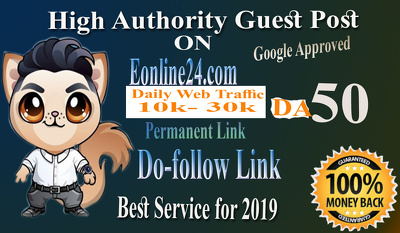Do Guest on Eonline24 DA 50 with Dofollow link
