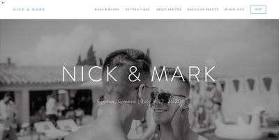 Build a stylish wedding / save the date website