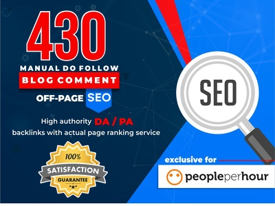 I Will Do 430 Blog Comment Dofollow Off Page SEO