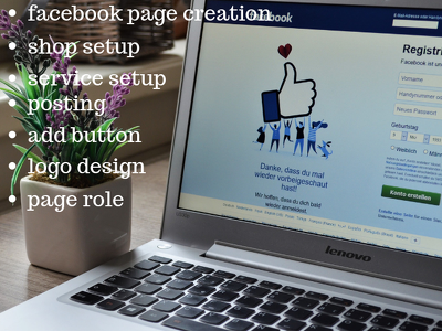 Create and optimize facebook business page for 2 days