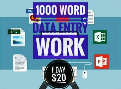 I can deliver 1000 words  data entry with your requirements