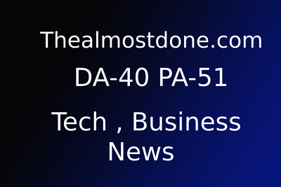 Publish guest post on Thealmostdone.com  Da - 40 +