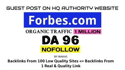 Publish guest post on Forbes - Forbes.com HQ link