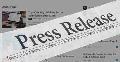 Write & Publish Guest Post on 10 Press Release Sites - DA 65+