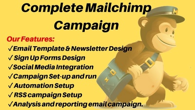 Design responsive Mailchimp email template and run automation