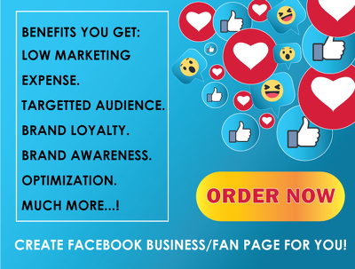 Create Or Fix Facebook Business Page Or Fan Page
