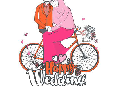 Make commission illustrations for wedding invitations or gift