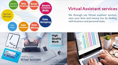 Be your Virtual Assistant/ Admin support for 1 hour