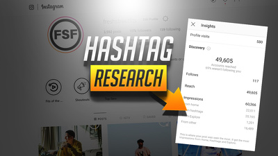 Do Hashtag Research and Deliver upto 60 Hashtags