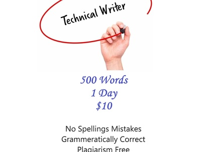 Write 500 words for any sort of writing project.