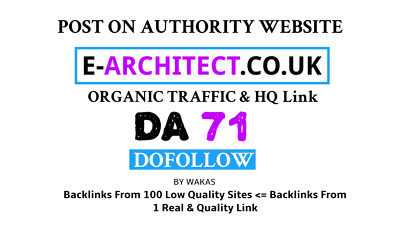 Publish Guest Post on e-architect.co.uk DA 71 Dofollow Link
