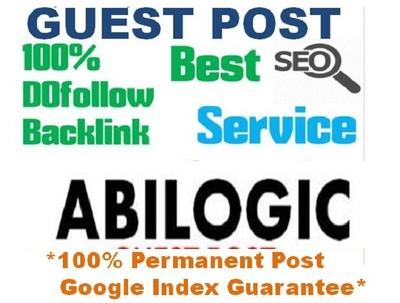 Real Dofollow Guest Post On PR5 US Based Website Abilogic. com D