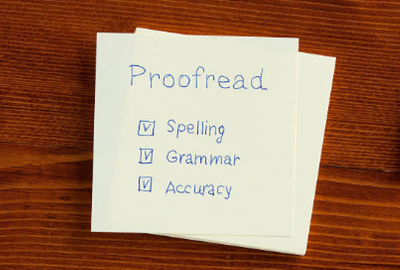 Proofread and edit up to 2000 words