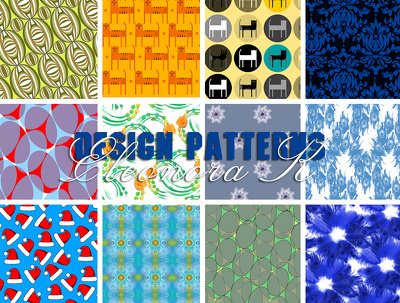 Pattern design for textile and wallpaper printing