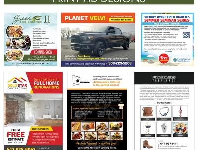Design Print Ad / Magazine Ad and Newspaper Advertisiment