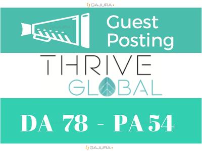 Publish Super Editorial on Thriveglobal, ThriveGlobal.com