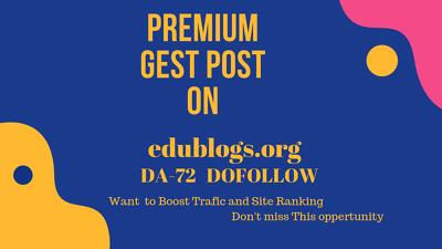 Publish a guest post on edublogs.org – DA 72