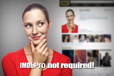 Put photos or headshots on your IMDb profile page