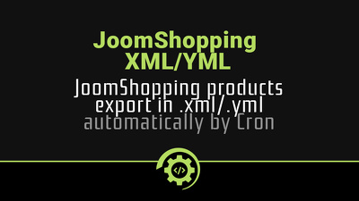 Export JoomShopping products to xml/yml