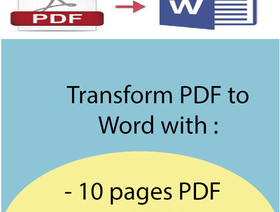 Convert 10 PDF pages to WORD