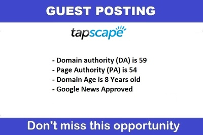 Guest post Tapscape.com, Tapscape DA 56, PA 54