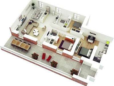 Create a professional 3d floor plan