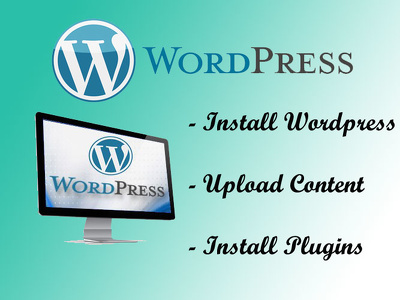 Deliver wordpress installation and add content