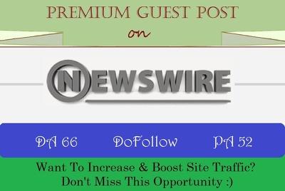 Publish A Guest Post on Google News Site NewsWire.net - DA 66