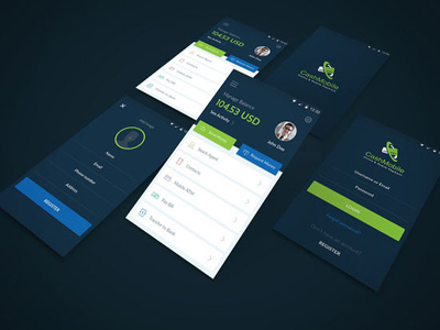 Design 5 mobile app screens in 1 day for you