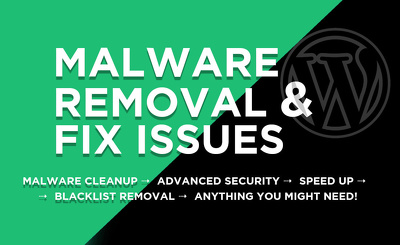 Remove malware recover hacked wordpress, security fix
