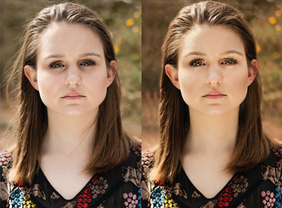 Professionally retouch a portrait/fashion photograph