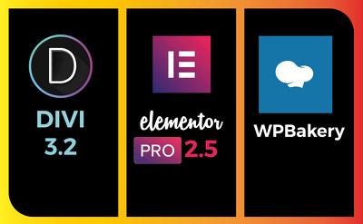 Create Wordpress Website Using Elementor OrDIVI In 8hrs
