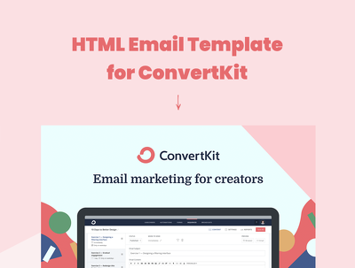 Mobile Ready HTML email template for ConvertKit