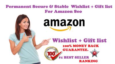 Create a unique Amazon Wish List of 1000 keywords searchable