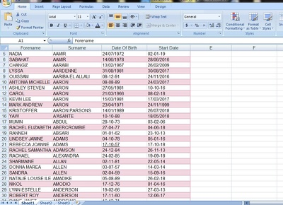 Do any type of data entry for 1 hour
