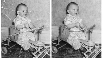 Restore an old and damaged photograph in 1 Hour