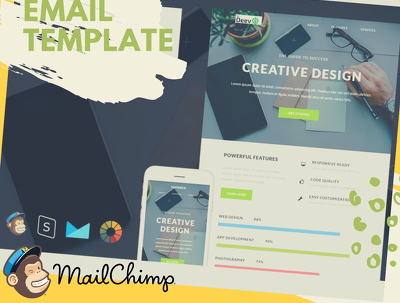 Create Email Template & Integrate With Mailchimp or GetResponse