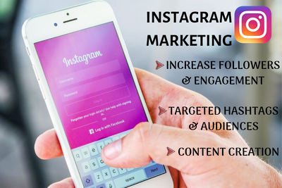 Do instagram marketing and Instagram promotion with engagement