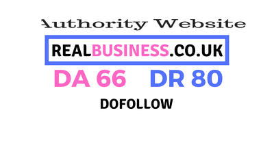 Publish a guest post on RealBusiness.co.uk DA66, DR80