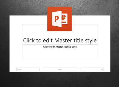 create your master template in Powerpoint